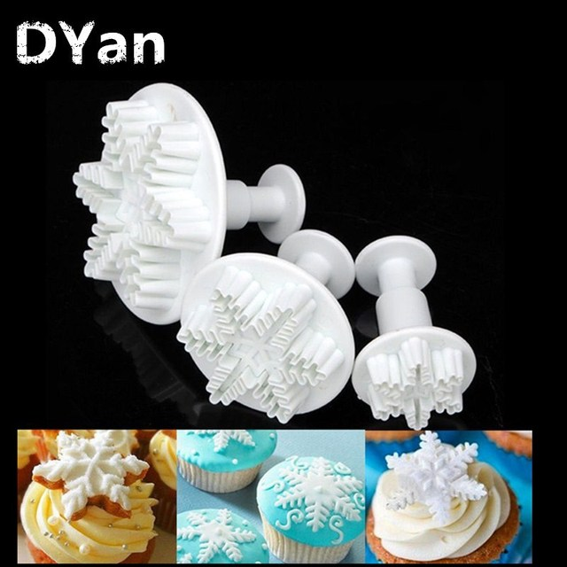Moule à gâteaux en flocons de neige | Outils de décoration pour gâteaux, gâteaux de cuisine, accessoires de cuisine, moule à gâteaux A013 3 pièces/ensemble
