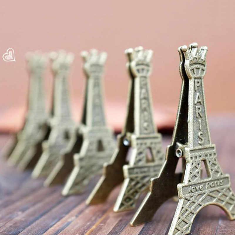 2 шт. винтажные Effiel Tower, Париж, металлические карты для заметок, держатель для фотографий, зажимы, настольный органайзер, фото карты, офисные принадлежности, аксессуары
