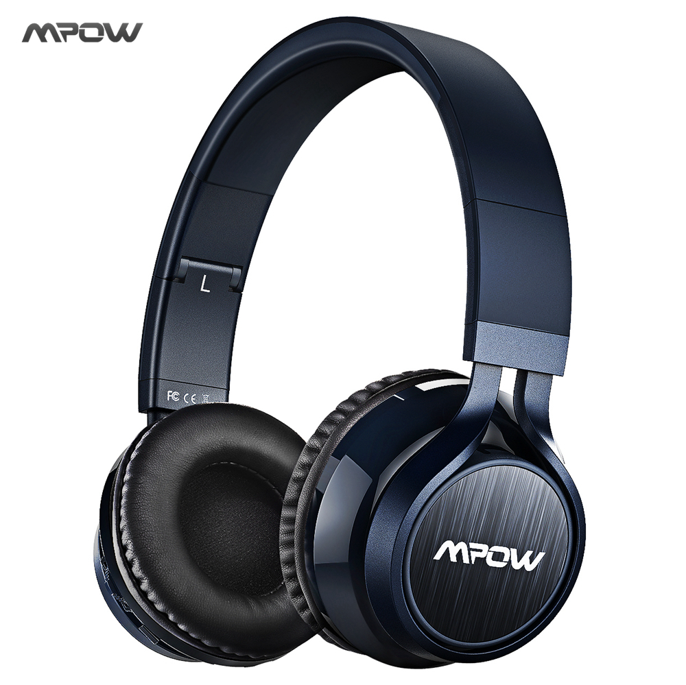 цена на New MPOW Thor Bluetooth Headphone Foldable Stereo Wireless Headset Over-ear w/ Soft Protein Ear Pads, Mic, AUX for Smart Phones