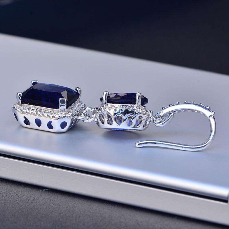 HTB10ksdSXzqK1RjSZFoq6zfcXXa6 PANSYSEN 2019 Luxury Natural Emerald Women's Drop Earrings Genunie 925 silver Jewelry Earrings For Women Party Engagement Gifts