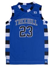 Mounttop 23# Black White Blue 3 Colors Basketball Movie Jersey Men's One Tree Hill Nathan Scott Stitched Basketball Shirt Jersey