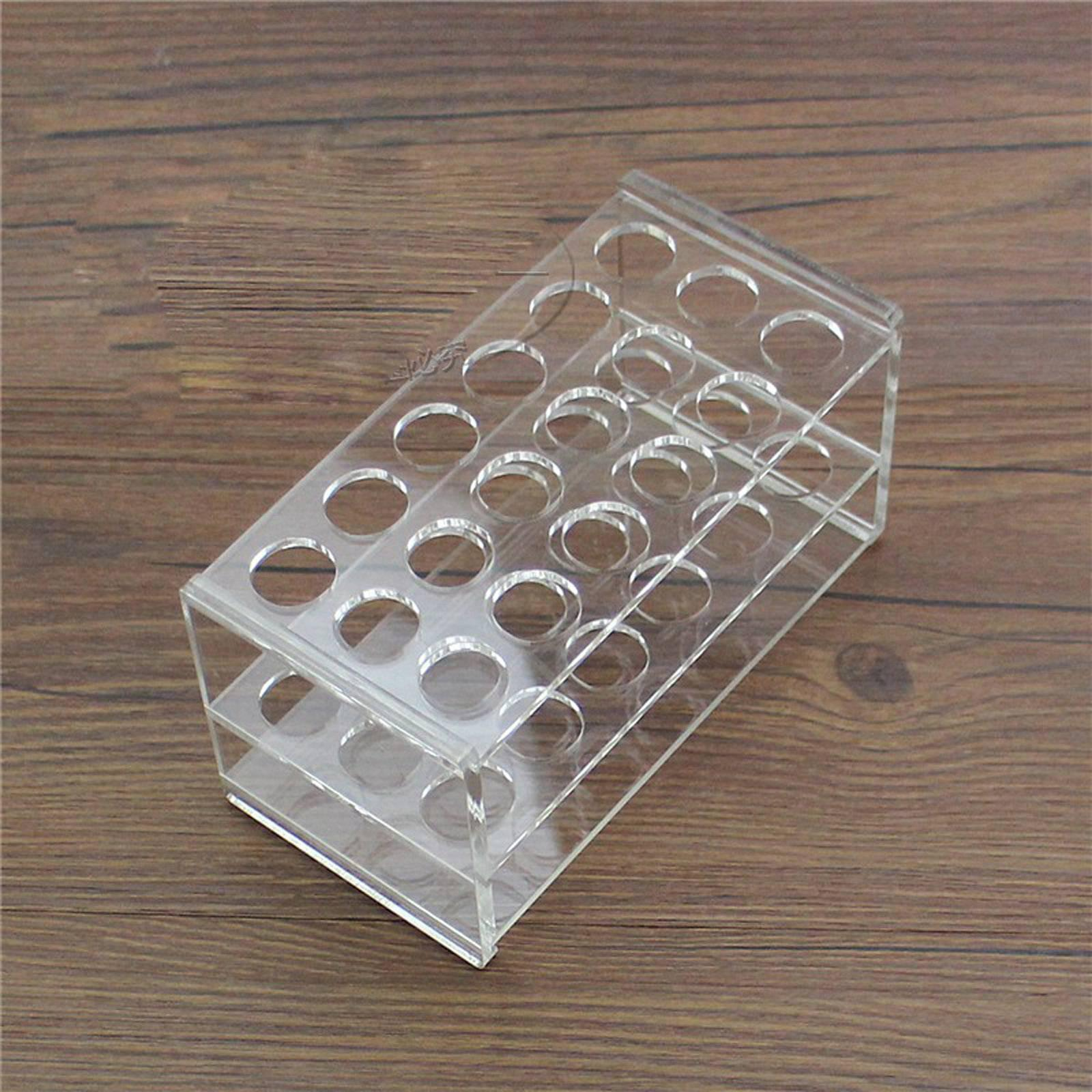 17mm Diam 18 Holes Methyl Methacrylate Rack Stand For 10/15ml Centrifuge Tubes