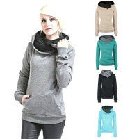 Feitong Women Elegant Pearls Beading Flare Sleeve Shirt 2017 Long Sleeve Hoodie Sweatshirt Sweater Hooded Cotton