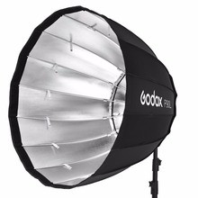 In Stock Godox Portable P90L P120L Deep Parabolic Softbox Bowens Mount Studio Flash Speedlite Reflector Photo Studio Softbox