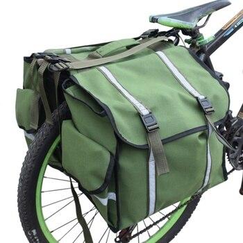חדש 3 ב 1 שקיות תא מטען הר כביש אופניים אופני רכיבה על אופניים זוגי צד אחורי סיאט זנב Rack טנא חבילת מטען carrier-בתיקים וסלים לאופניים מתוך ספורט ובידור באתר