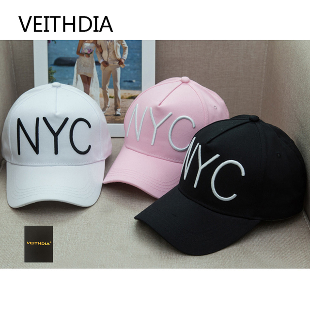 Veithdia Breaking New Nyc Baseball Cap Stereo Embroidery Letter Hip