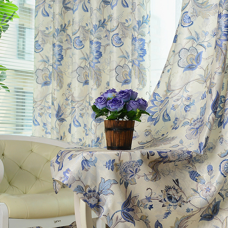 New Rural Double Sided Printed White Silk Window S