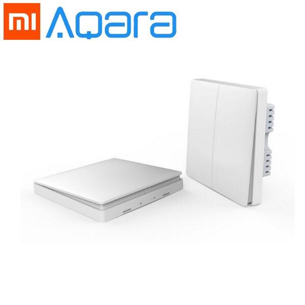 2018 Xiaomi casa inteligente Aqara de Control de luz inteligente inalámbrica ZiGBee clave y interruptor de pared a través de teléfono inteligente aplicación de Control remoto por Xiaomi