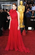 free shipping 2013 Oscars Emma Stone Red Carpet Celebrity/Evening dress Pageant Gowns Custom