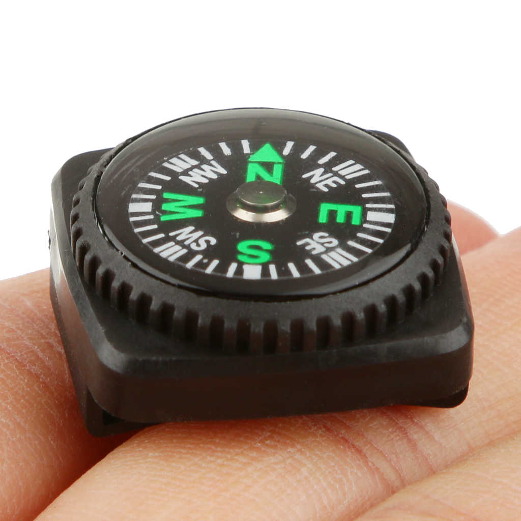 Pocket Compass con Guscio In Gomma Watch Band Cordini di sicurezza Braccialetto Misura Universale Fondina Cinturino Bussola attrezzi Esterni