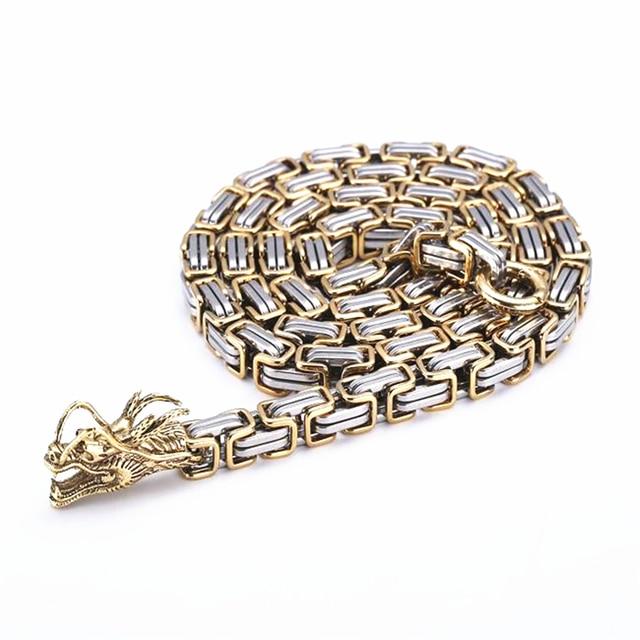 2017 Men Bracelets Jewelry Punk Retro Byzantine Style 105cm Longer Stainless Steel Bracelet Chains&Links