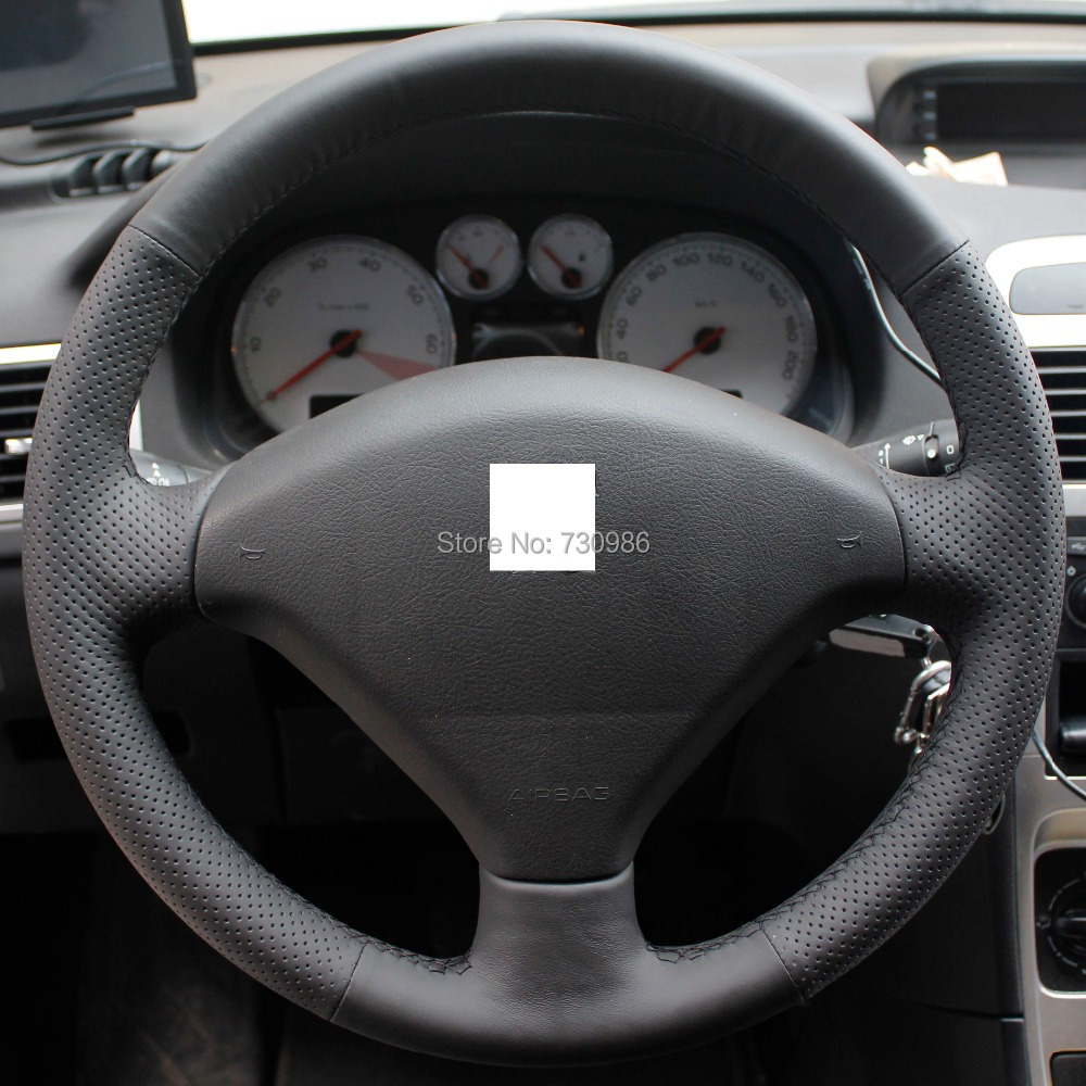 steering wheel cover for peugeot 307 307 original leather xuji car