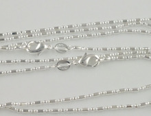 SHUANGR Wholesale 1pc Silver 1.4mm columnar join ball Chain Necklace for Men Women Unisex Jewelry Free Shipping