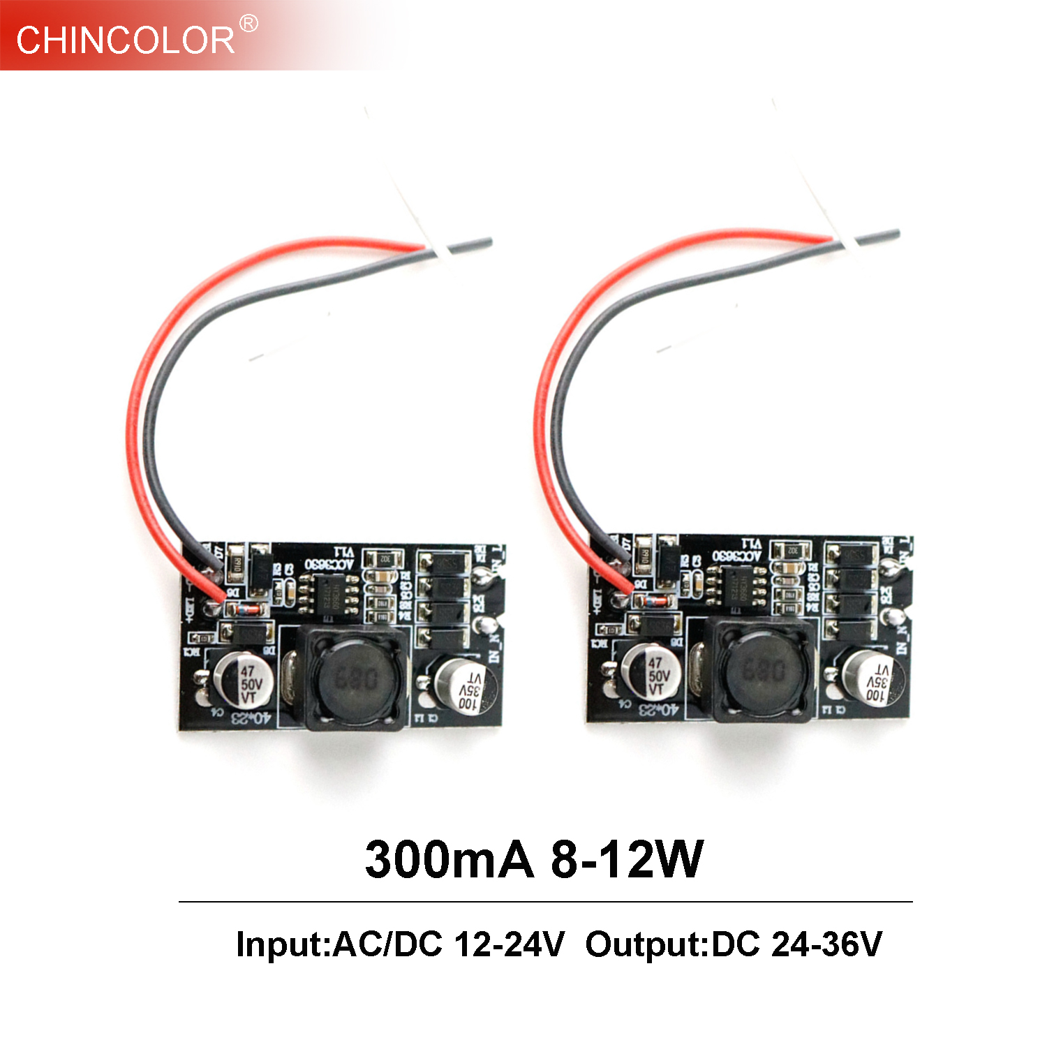 DC 24V~36V <font><b>Led</b></font> <font><b>Driver</b></font> Power Supply <font><b>LED</b></font> Built-in <font><b>Driver</b></font> 300mA (8-12)x1W 8W 9W 10W 11W <font><b>12W</b></font> AC/DC 12-24V DIY <font><b>LED</b></font> Light Lamp Bulb IL image