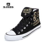 2016 Spring Autumn Canvas Shoes For Men Lace Up Breathable Men Fashion Graffiti High Tops Casual