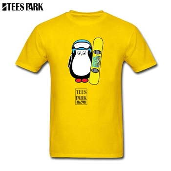 Tops Hipster Tees Hugo Snowboard Funny Penguin Tees Youth O Neck Tee Shirt 2019 New Trendy Man Grossiste T Shirt Plus Size 1