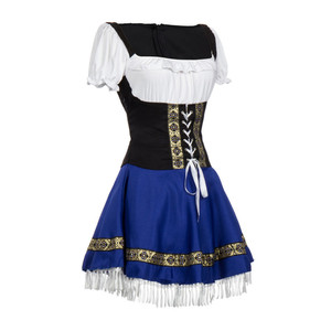 Image 4 - Sexy Blue Bavarian Oktoberfest Ladies Wench Waitress Serving Maid Costume S 3XL Beer Girl Fancy Dress
