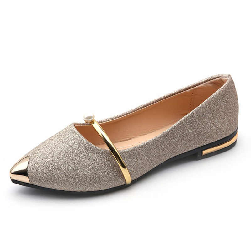 03e549ff94 2019 Spring Autumn New women flats Casual Women Shoes comfort women's  loafers Pointed Toe Flat Shoes Ladies Shoes moccasins