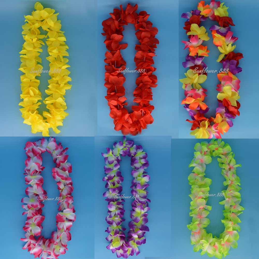 Hawaii Flower Leis Garland Necklace Flower Wreath Beach Party