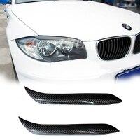 UHK For BMW 1 Series E87 E82 120I 130I Carbon Fiber Head Light Eyebrow Trim Cover Eyelids Car Front Headlight Eyebrow Eyelid