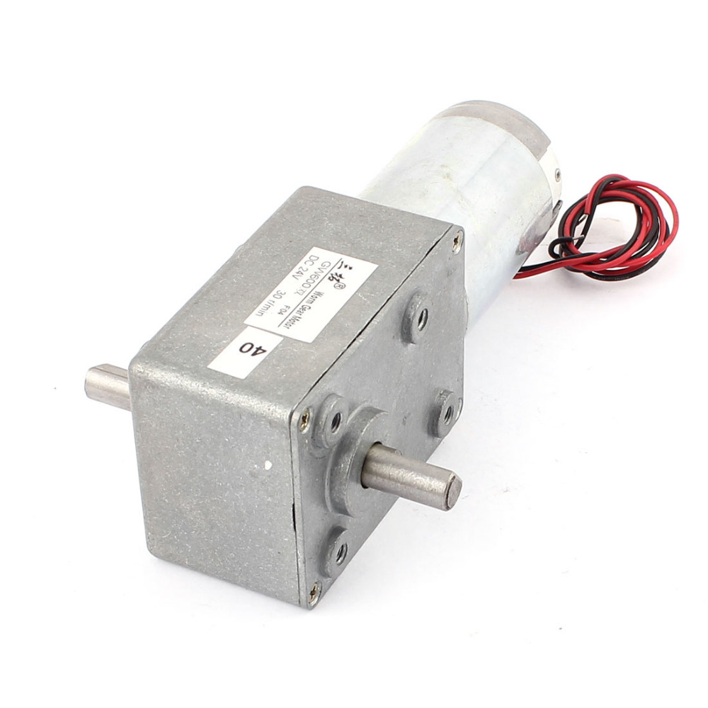 DC 24V 9/56/30RPM Dual-Shaft High Torque Reversible Worm Gear Motor Speed Reduction Reducing Electric GearBox Motor Accessory цена