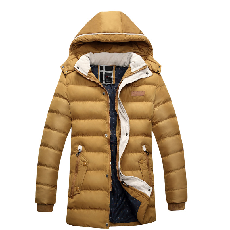 Men Winter  Coats Snow Winter Warm Thick Hooded Slim Fit Parkas Wadded Brand Design Casual Jacket Coats SL-E434 hooded detachable winter warm men coats brand design snow thick outdoor down parkas casual slim fit cotton trench coats f1210