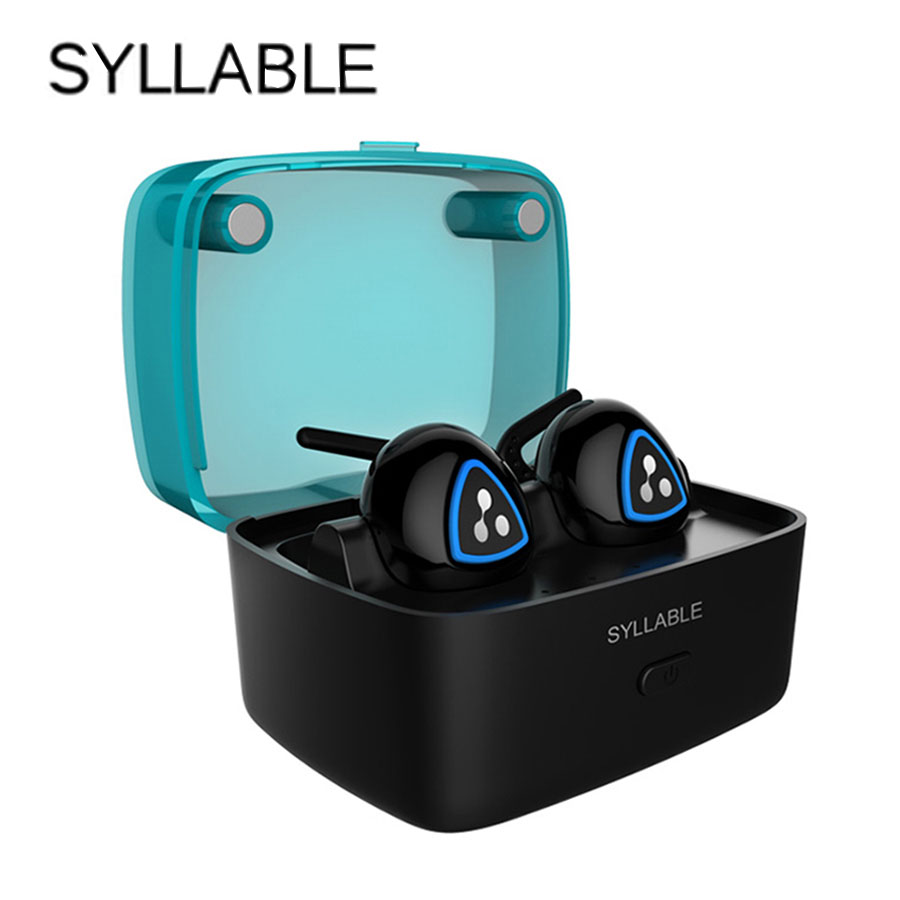 Original Syllable D900S Wireless Bluetooth V4.0 Headsets Bass Stereo Music Headset IPX4 Waterproof Earbud For iPhone Huawei
