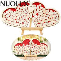 Wood Hearts Confetti Scatter Crafts Party Table Decorations Rustic Desk Dispaly Wedding Reception Anniversary Supplies