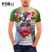 Forudesigns maglietta a maniche corte dei nuovi uomini di modo 3d scimmia animale uomo t-shirt off bianco maschio shirt camisa masculina vestiti