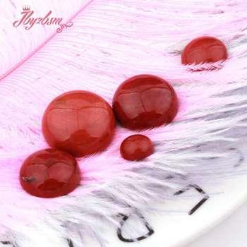 7a1c4cea38fc Oval Coin rojo Jaspers CAB Cabochon Flatback cúpula Undrilled Piedra  Natural perlas para DIY Pandandt pendiente anillo joyería 5 unid