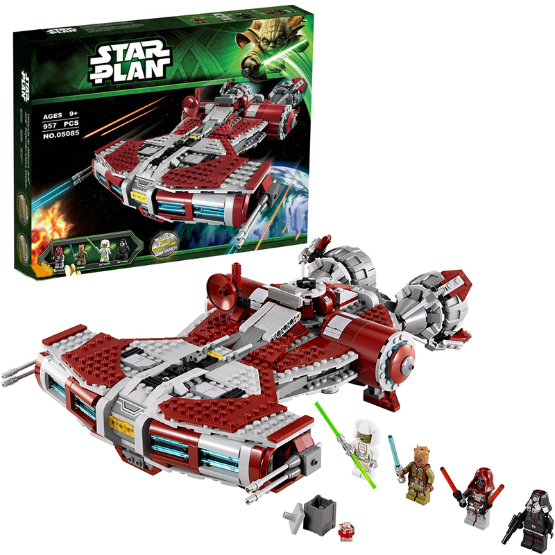 Lepin 05085 Star Wars Jedi Defender-class building bricks blocks Toys for children Game Weapon Compatible with Decool 75025 lepin 02012 city deepwater exploration vessel 60095 building blocks policeman toys children compatible with lego gift kid sets