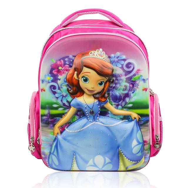 Mochilas Cartoon Princess Sophia niña infantil Minion mochila mochila escolar mochilas escolares los niños de edad 2-5