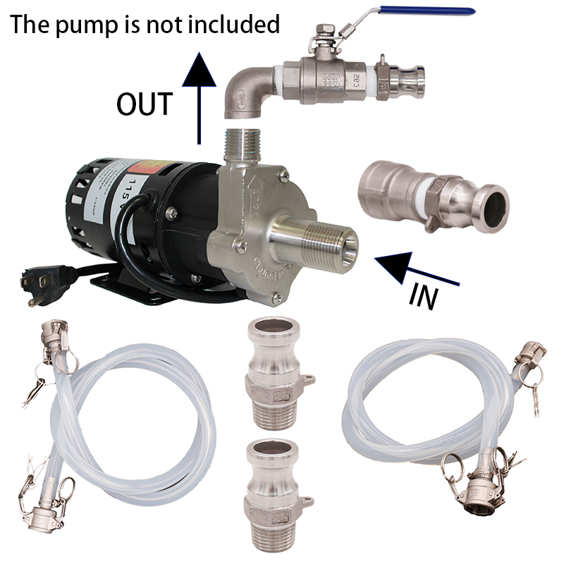 Transfer Pump Camlock Quick Connect Kit March 809 Pump Homebrew Pump Accessories Food Grade Silicone And Stainless Steel 304