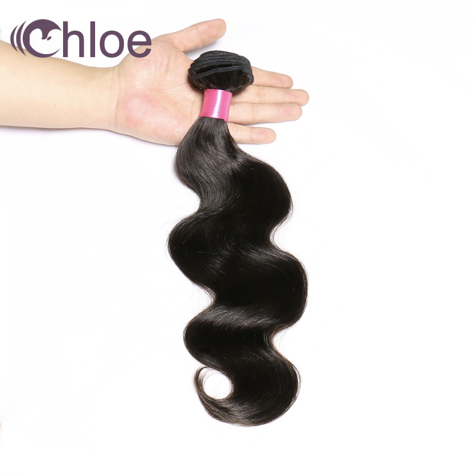 Human Hair Weaves Capable Chloe Hair Brazilian Body Wave Hair Weave Bundles Natural Color Human Hair 1 Piece 8-30inch Can Mix Any Length Remy Hair Bundles Sale Price