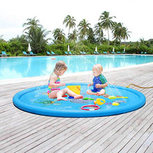 Sprinkle Splash Play Mat Pad Toy Kids Water Pool Inflatable Outdoor Summer Water Toys AN88