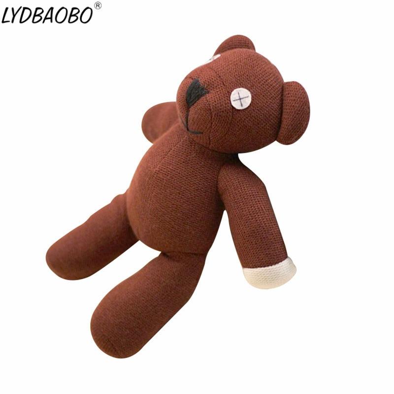 LYDBAOBO 1PC 25CM Genuine Cute Mr.Bean Plush Toy Stuffed Cotton Soft Teddy Bear Animals Movie Dolls For Kids Baby Birthday Gift