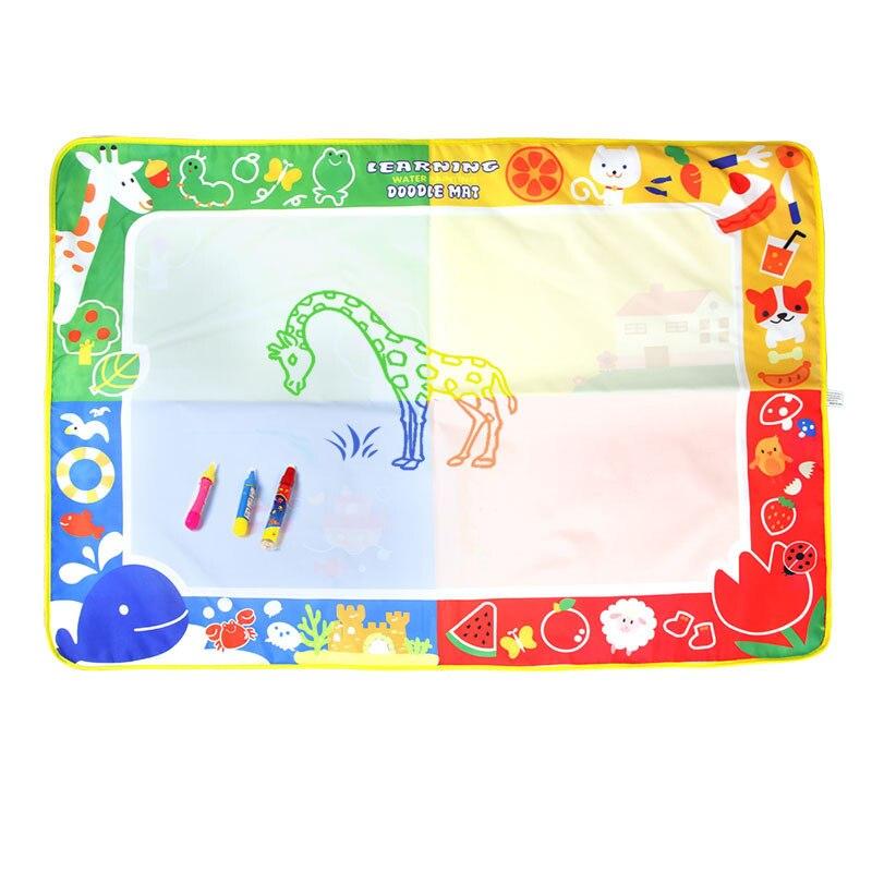 Детские Вода Мат Рисунок добавить Магия воды Ручка Картина Рисование игрушек для детей 100x70 см образования игрушка подарок на Рождество