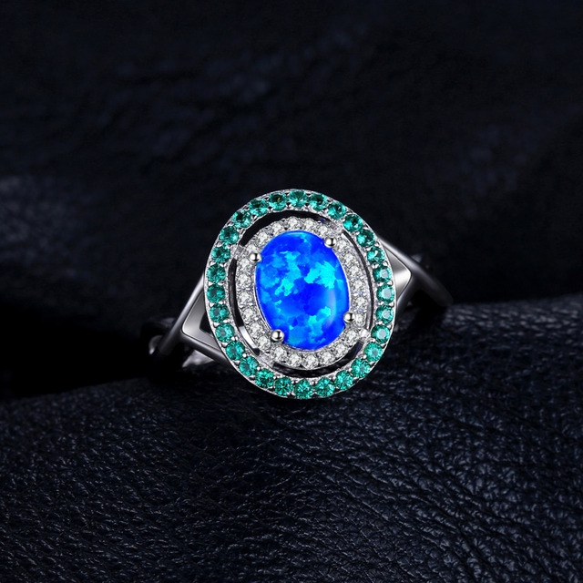 Opal Inlay Emerald Vintage Ring