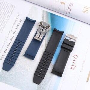 Image 5 - Bracelet de montre en Silicone 21MM, pour Hydro conquête L3 41mm 43mm, cadran pour Explorer2, Bracelet en caoutchouc