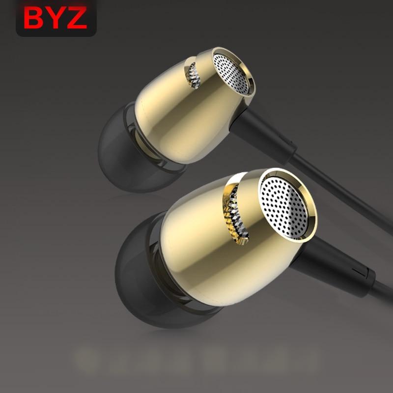 100% Original BYZ K53 3.5mm In-Ear phone Earphone bass Headset For Xiaomi IPhone 5 6  Samsung MP3 MP4