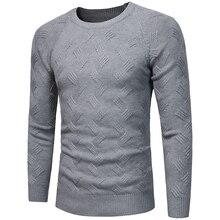 2019 winter New Men's Pattern Rendering Knitting Unlined Garment Korean Student Tide Man Round Neck Joker sweater men Best недорого