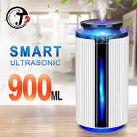 New 900ML Air Humidifier Ultrasonic USB Diffuser Aroma Essential Oil 7 Color LED Night light Cool Mist Purifier Humidificador