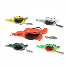1pcs Fishing Lure Artificial Bait 6g 5cm Sinking Duck Lure Soft Baits Fishing Wobblers Frog Lure Pesca Pike Carp Fishing tackle 1pcs soft rubber frog fishing lure bass crankbait 3d eye simulation frog spinner spoon bait 8cm 6g fishing tackle accessories