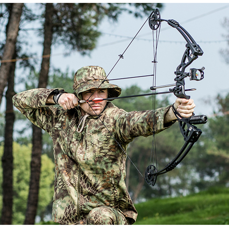 Adjustable 30-70 lbs Archery Compound Bow With Complete Accessories Powerful Outdoor Shooting Hunting Bow Arrow Quiver HW118 35 70 lbs powerful compound bow aluminum alloy archery bow arrow for outdoor hunting shooting
