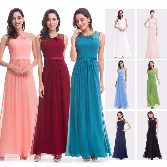 Online Shop Prom Dresses Long 2018 EP08742 Pink Women s Elegant Sleeveless  A-line Burgundy Prom Dress Lace Plus Size Vedtidos De Festa  58f456683d97