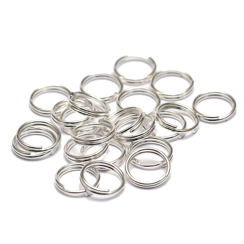 double loop jump rings link to charm bracelets 200 silver split rings 5mm
