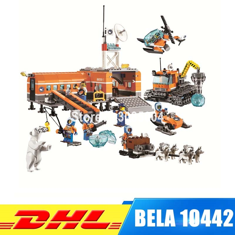 BELA 10442 City blocks Brick Arctic Base Camp 60036 Building Blocks Model Toys For Children Compatible Lepin bela 10439 compatible lepin city arctic helicrane building blocks policeman figure toys for children girls