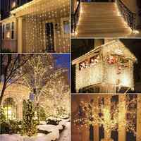 10M 100 guirnalda de luz LED árbol de Navidad Luz de hadas impermeable jardín de casa Año Nuevo Fiesta al aire libre vacaciones decoración. b