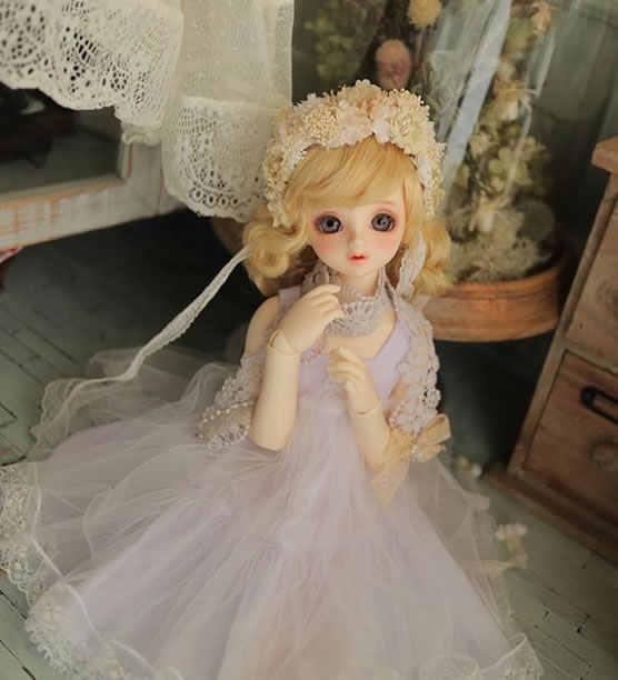 Bjd/sd кукла 1/4 маленький ангелочек действительно тумана куклы с подвижными суставами (свободные глаза