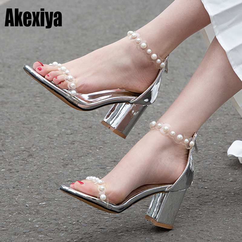 Fish Mouth sandals for women with pearl High Heeled open toe sandals for women Rhinestone Slipper ladies sandals ankle high f282Fish Mouth sandals for women with pearl High Heeled open toe sandals for women Rhinestone Slipper ladies sandals ankle high f282